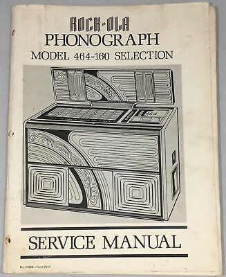 Jukebox Manual Rock-Ola Service Manual Model 464-160
