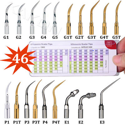 46 Types Compatible with EMS & Woodpecker Ultrasonic Scaler Perio Scaling Tips