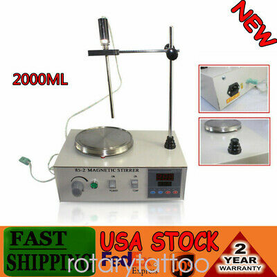 Magnetic Stirrer  2000ml with Heating Plate 85-2 Hotplate Mixer Digital Display
