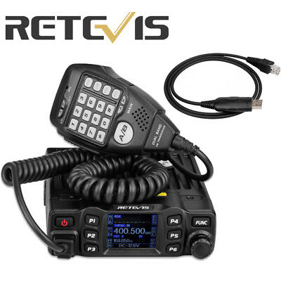 Retevis RT95 Dual Band VHF/UHF 200CH Mobile Car Radio Transceivers Receiver+USB