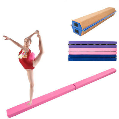 7/8 Ft Half Folding Balance Beam Skill Performance Gymnastics Home Gym Training