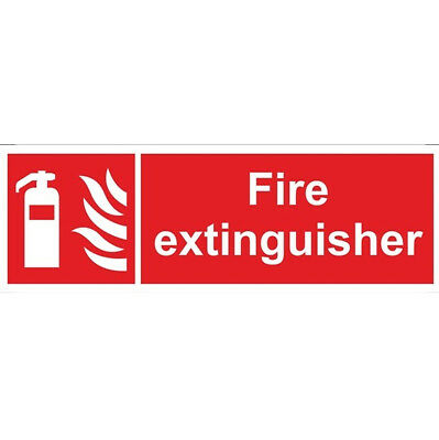 Fire Extinguisher Sign - Self Adhesive Vinyl - 100mm x 300mm