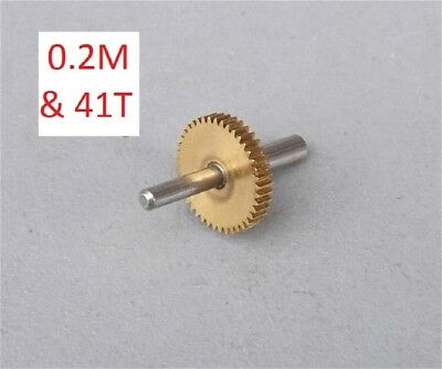 5Pcs 0.2Modulus Metal Gear Brass Spur Precision Gear for Motor Transmission