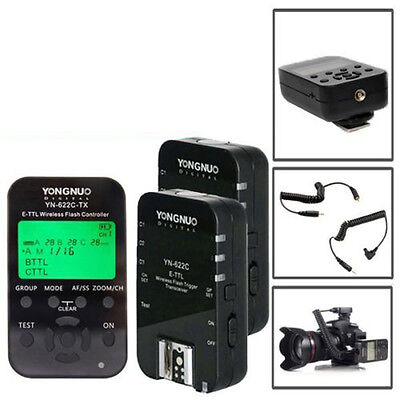 Yongnuo YN-622C-TX + 2x YN622C Wireless Flash Controller Trigger E-TTL for Canon