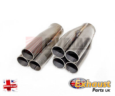 "32mm 1.25"" Stainless Tubular 3 or 4 into 1 Exhaust Manifold Collector Down Pipe"