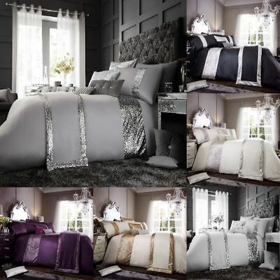 New Glamorous Luxurious Duvet Cover Sets Bedding Sets  Runners All Sizes