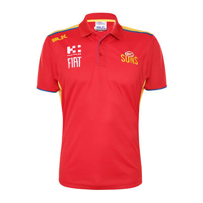Gold Coast Suns AFL Mens Media Polo Shirt and On Field Cap BNWT Clothing Hat Top