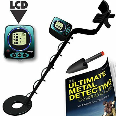LCD Waterproof Metal Detector Kit Deep Sensitive Bounty Hunter Coil Gold Search