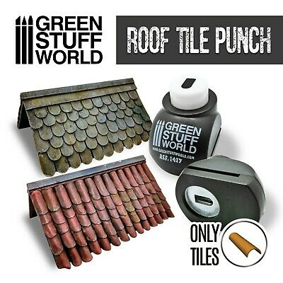 Miniature Roof Tile Punch - DARK GREY - Tool to make TILES for dioramas scenery