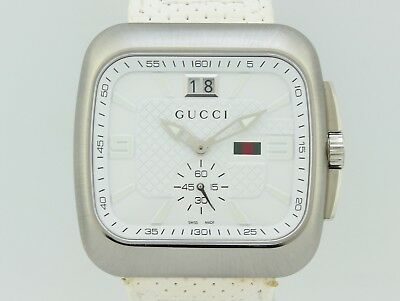 d2bd8fd57df NEW MENS GUCCI Coupe 40 MM Square Stainless Steel Diamond Watch ...