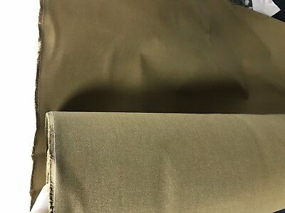 TAN 14OZ COTTON CANVAS WATERPROOF FABRIC Heavy Outdoor Tarpaulins Covers 150CM