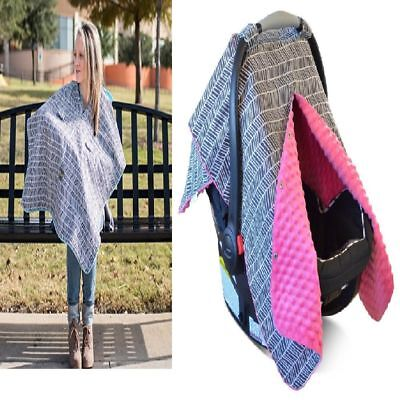 New Large SUPER SOFT Baby Stretchy Carseat Car Seat Canopy Nursing Carrier Cover