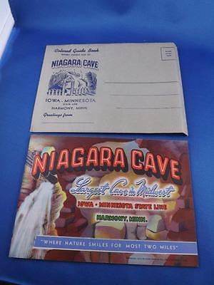 Niagara Cave Color Guide Book Travel Souvenir Harmony Minnesota 1940 & Envelope