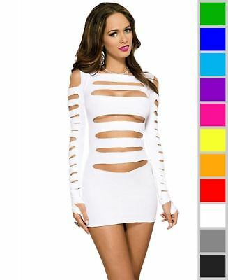 6f872c2bfb0 New Music Legs 6405 Heartbreaker Cut Out Long Sleeve Mini Dress