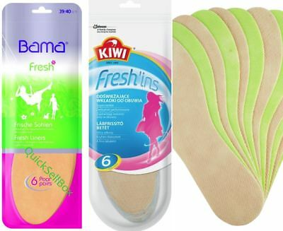 KIWI Fresh'ins and BAMA Fresh Thin Shoe Insoles Inserts Freshins Dry Feet WOMAN