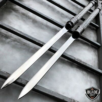 "25"" NINJA SAMURAI Dual Blade TWIN SWORDS Katana Japanese Combat COSPLAY NEW Set"