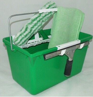 Unger Window Cleaning Starter Kit With Squeegee Bucket T Bar S Channel Cloth