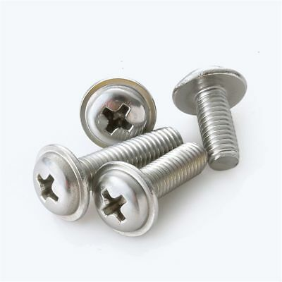M3 M4 M5 Coarse Pan Flanged Head Phillip Machine Screws G316 Marine Stainless