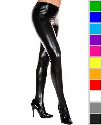 Daring Wet Look Leggings Music Legs 36112