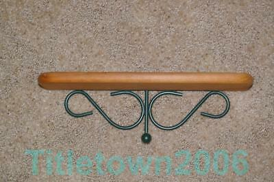 Home Interior Green Wire Scroll And Wood Shelf Homco