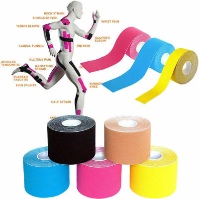Kinesiology Tape Athletic Trainer Muscle Support Sport Physio Strapping 5M*5CM