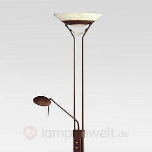 design bogenlampe stehlampe schwanenhals lampe mit dimmer schwarz eur 138 00 picclick de. Black Bedroom Furniture Sets. Home Design Ideas