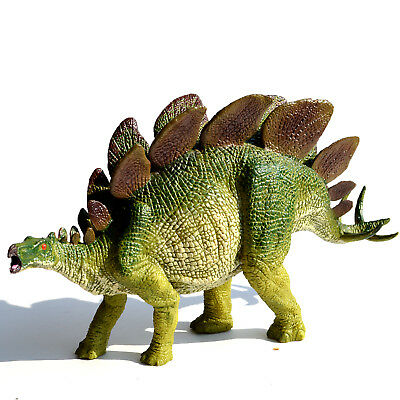 "8"" Large Realistic Stegosaurus Solid Plastic Dinosaur Figure Educational Toy"