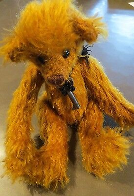 "Bears By Beth Anne Pumpkin 6"" Mohair Teddy Bear Brand New!"