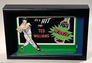 Vintage Ted Williams Boston Red Sox autographed Moxie advertising display 1950s