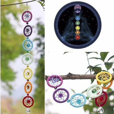 Colorful Chakra Crystal Dream Catcher Wall Hanging Ornament for Party Home Decor