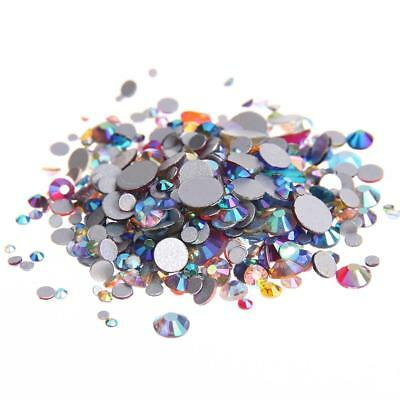 AB flat back non hotfix rhinestones flatback glass stones 3d nail art decoration