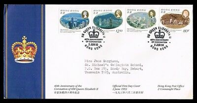 HONG KONG • 1993 • 40th anniversary of Queen's Coronation FDC