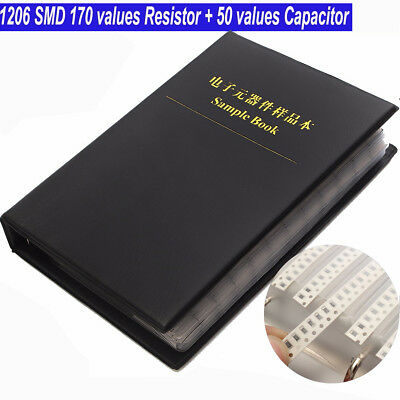 1206 SMD Sample Book  170 Values Resistor + 50 Values Capacitor Assorted kit