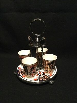 EGG CUP STAND IMARI china PATTERN BY TAYLOR TUNNICLIFFE & CO