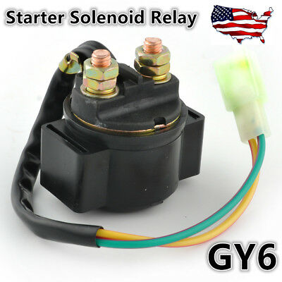 Starter Relay Solenoid Fits Chinese Scooter ATV GY6 50cc 90cc 125cc 150cc Engine