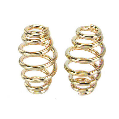 """Motorcycle 3"""" Gold Barrel Coiled Solo Seat Spring For Harley Chopper Bobber AU"""