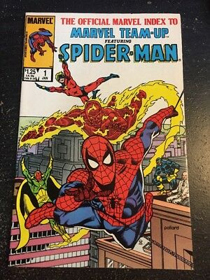The Official Marvel Index To Marvel Team-up#1 Incredible Condition 9.0(1986)