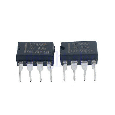 10pcs NE555P NE555 DIP-8 Single Bipolar Timers IC DH