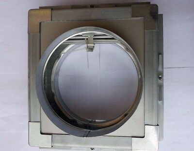 250mm Spigotted Fire & volume control damper with install frame for ventilation