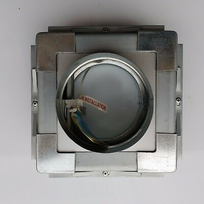150mm Inline Spigotted Fire & volume control Damper with Install Frame for vent