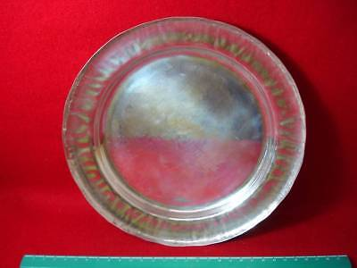 Japanese Antique Pure Copper Ikuha Sark Engraving Sculpture Metal Dish Japan EMS