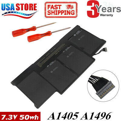 "50Wh Battery for Apple MacBook Air 13"" A1369 Mid 2011 A1466 2012 A1405"