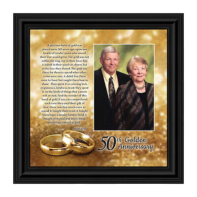 **NEW** Bands of Gold, 50th Wedding Anniversary Gift, Picture Frame,10x10 8608