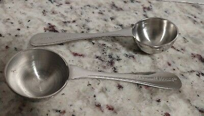 Lot of 2 Maxwell House Limited Edition Stainless Steel Coffee Scoop - 1 Tblspn