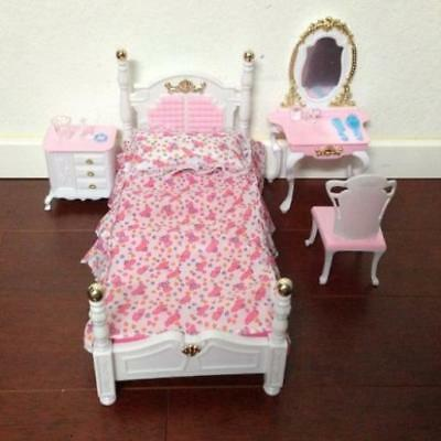 MY FANCY LIFE Barbie Size Dollhouse Furniture, Living Room with TV ...