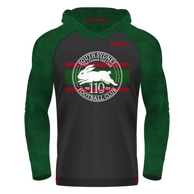South Sydney Rabbitohs 2018 NRL Mens Supporter Warm Up Top BNWT Rugby League