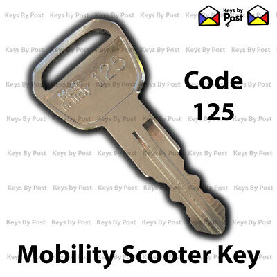 Mobility Scooter Key Code 125 - Sunrise Sterling Sapphire 2, Gem 2 Fast Shipping
