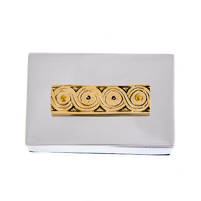 Decorative Box - Archaic Design - Handmade Solid Aluminum & Bronze