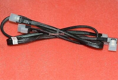 2Pcs PERC H700 H200 6GBPS SAS SATA RAID CABLES DELL POWEREDGE R710 3.5 SERVER