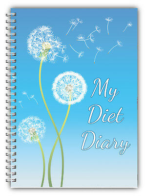 Diet Diary, Slimming Tracker, Food Dieting, Weight Loss Journal Log Book Blue DC